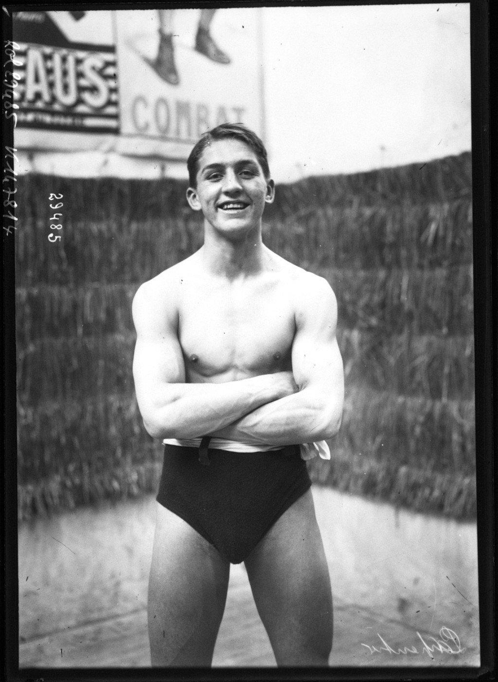 Carpentier [portrait du boxeur], Agence Rol. Agence photographique 1913, Bibliothèque Nationale de France, Public Domain Mark